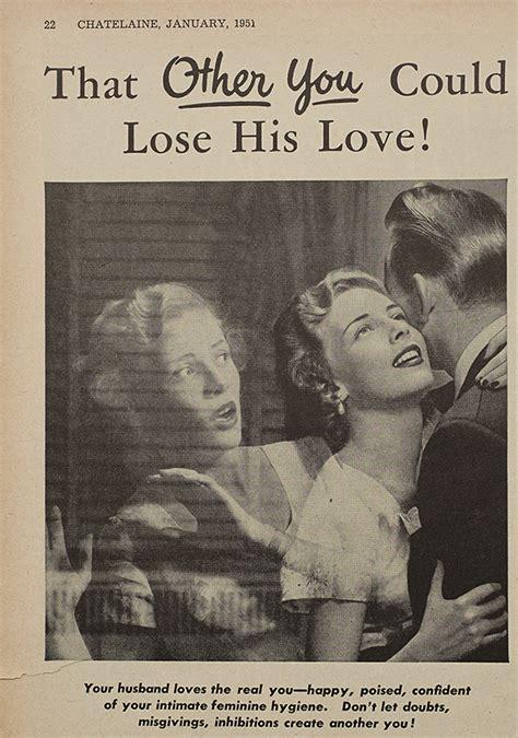 Throwback Thursday: In 1951, Lysol made feminine-hygiene