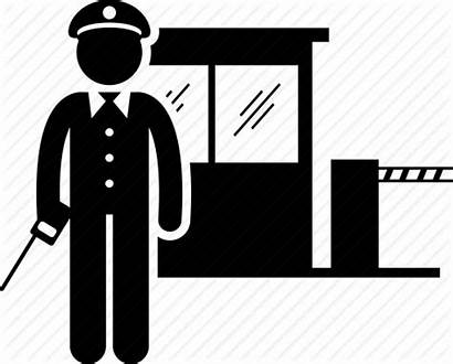 Guard Security Icon Watchman Patrol Clipart Cartoon
