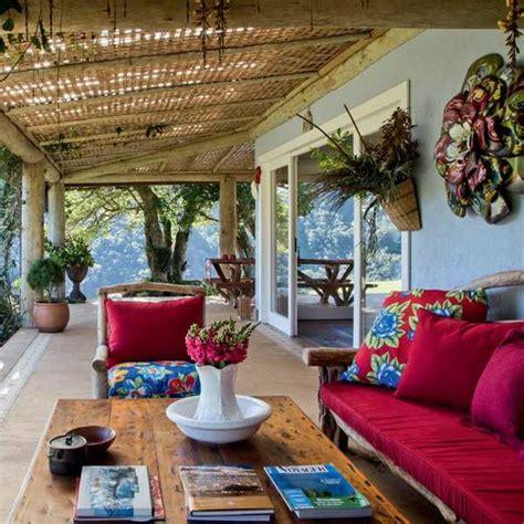 brazilian ethnic interior decorating ideas highlighting traditional motifs  bright colors