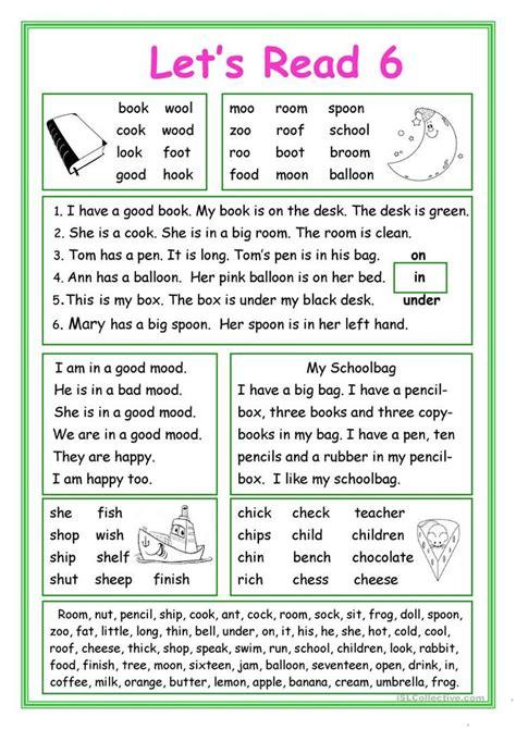 lets read  worksheet  esl printable worksheets