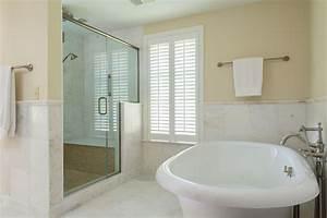 Custom, Marble, Tile, Bathroom, And, Kohler, Tub, With, Custom