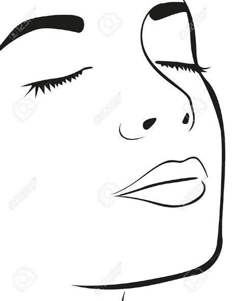 dessin de visage de femme facile recherche