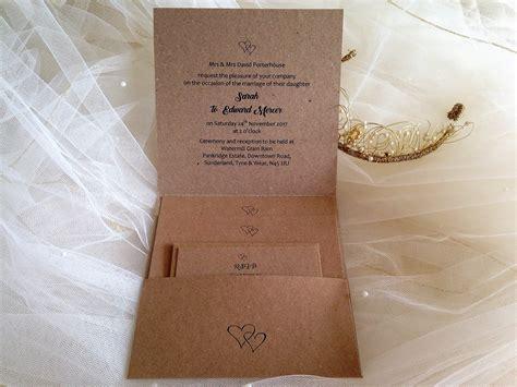 rustic kraft pocketfold wedding invitations stationery