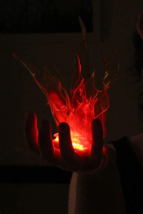 making  transpart handheld flame worbla thermoplastics