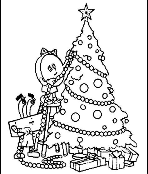 xmas tree drawing coloring home