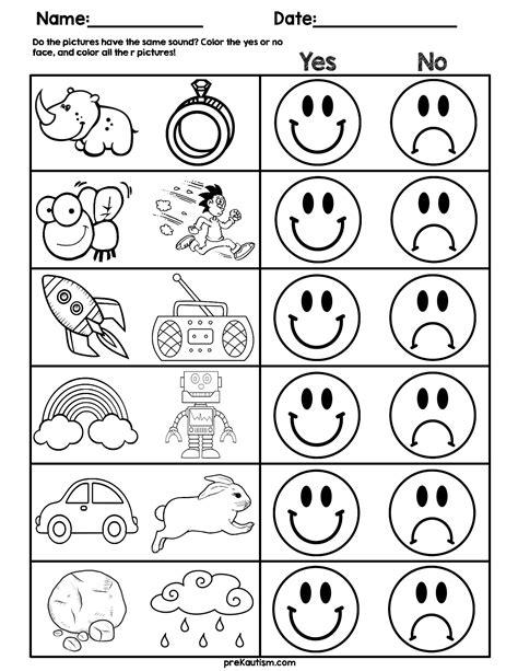 consonant sound match worksheets  images