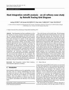 Pdf  Heat Integration Retrofit Analysis U2014an Oil Refinery Case Study By Retrofit Tracing Grid Diagram