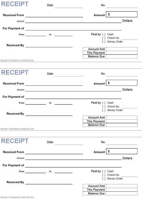 receipt template generic receipt template in 2019 receipt template free