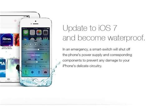 apple iphone ad ios 7 ad promising a waterproof device destroys