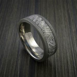 gibeon meteorite in titanium wedding band made to any With wedding ring made from meteorite