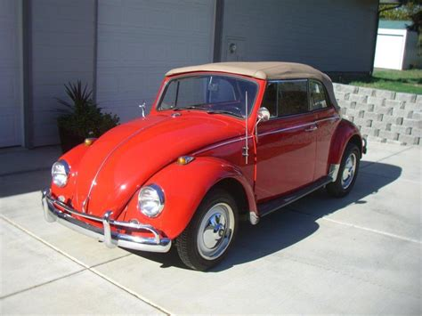 volkswagen beetle red convertible 1967 volkswagen beetle convertible 116326
