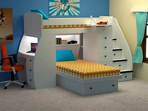 Lit Bureau Enfant : meuble gain de place pour votre maison ~ Teatrodelosmanantiales.com Idées de Décoration