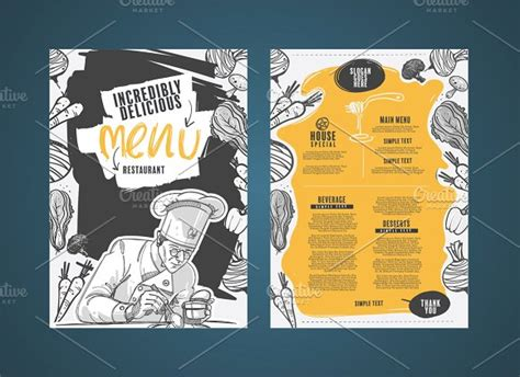 house layout 50 restaurant menu designs that look better than food