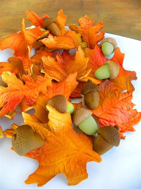 Edible Fall Leaves Qty 24 Fall Leaves Great For