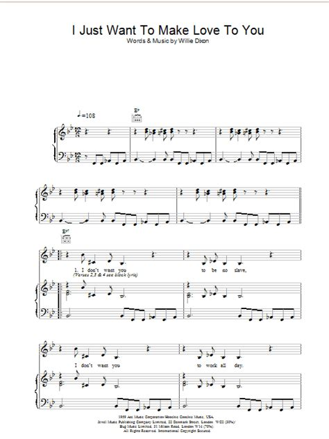 i just want to make love to you sheet music direct