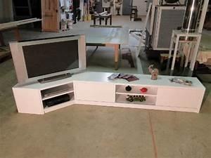 Meuble D Angle Moderne : meuble tv hifi d angle moderne meuble tele laque noir ~ Teatrodelosmanantiales.com Idées de Décoration