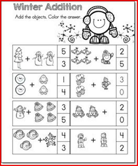 kindergarten common math worksheets