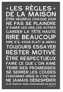 Affiche Les Regles De La Maison : les r gles de la maison home rules poster affiche sticker ~ Melissatoandfro.com Idées de Décoration