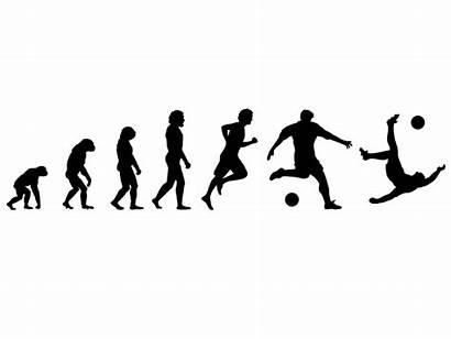 Entwicklung Fussballer Wandtattoo Evolution Fussball Groessen Erhaeltlich