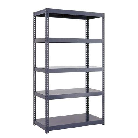 home depot garage shelves edsal 96 in h x 36 in w x 18 in d 5 shelf high capacity
