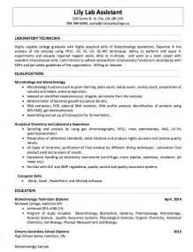 best resume for lab technician laboratory resume