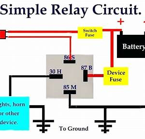 Diagram  Simple Relay Circuit Diagram
