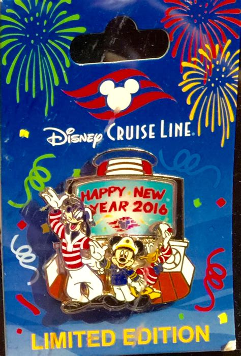 disney cruise line new year 2016 pin disney pins blog