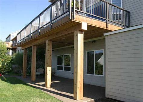 building a second floor deck outdoor floor system