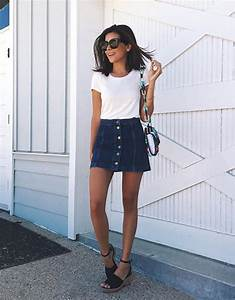 These Denim Skirt Outfits Will Make You Become A Headturner - Just The Design