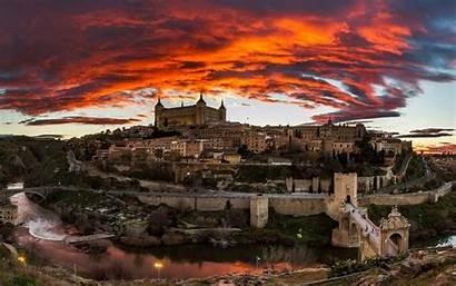 Spanish Cool Sunset Spain Toledo Desktop Wonderful
