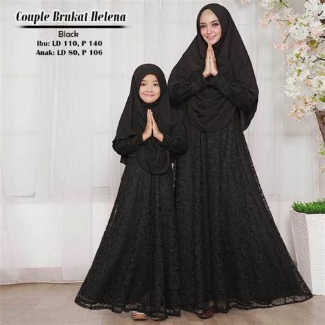 baju gamis couple helena brokat busana muslim modern