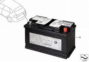 Bmw X5 Original Bmw Agm-battery  50 Ah - 61219364597