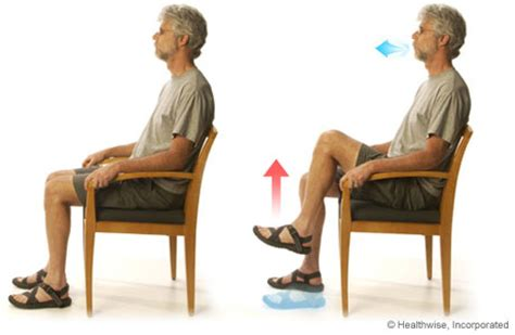 chair leg raises with medicine leg lifts for chronic obstructive pulmonary disease copd