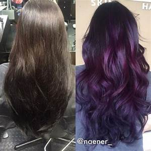 How To Dye Your Hair Purple Without Bleach 4 Steps