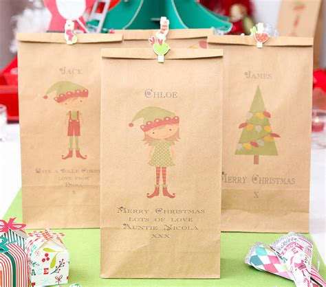personalised christmas gift bag by red berry apple