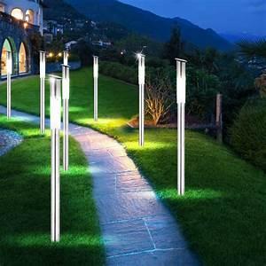 Beleuchtung Für Den Garten : 6er set solar steck leuchten led garten weg beleuchtung ~ Sanjose-hotels-ca.com Haus und Dekorationen