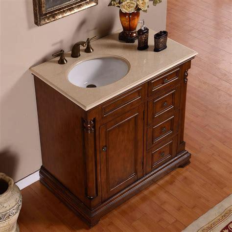 Bathroom Sink Vanity Cabinet by Silkroad Exclusive 36 Quot Single Sink Cabinet Bathroom Vanity