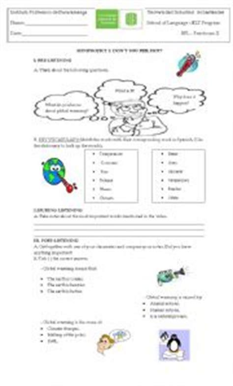 teaching worksheets global warming