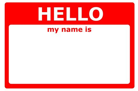 hello my name is template crafty on the shelf name tags free printable