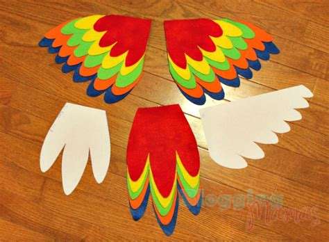 Diy Parrot Costume For Baby [with Free Templates