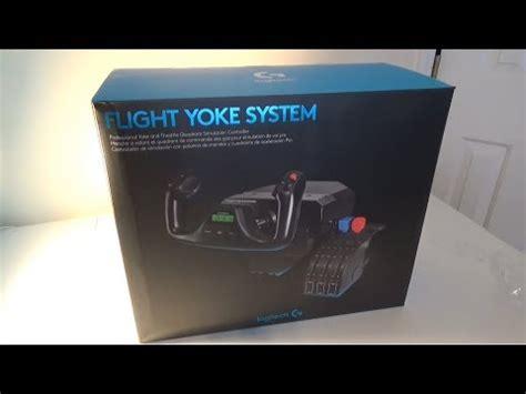 unboxing logitech saitek flight yoke system youtube