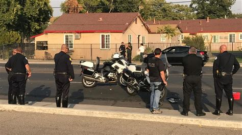 Southeast Fresno Motorcycle Accident Injures Officer Near