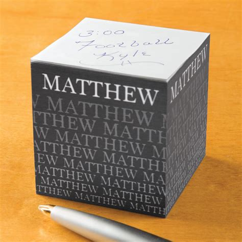 personalized fading   stick note cube note cube