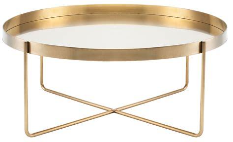 """Gaultier 40"""" Gold Metal Coffee Table, Hgde122, Nuevo"""