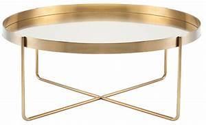 gaultier 40quot gold metal coffee table hgde122 nuevo With gold brass coffee table