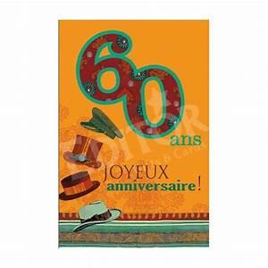 Cadeau Pour Homme Anniversaire : carte joyeux anniversaire 60 ans cadeau maestro ~ Teatrodelosmanantiales.com Idées de Décoration