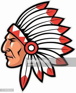 Indian Head Mascot Vector Art | Getty Images