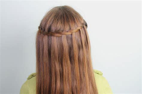 beautiful waterfall braid hairstyle   twist