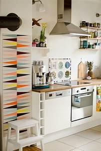 Küche Retro Stil : k che im vintage stil mit ikea brakig tapete comfort zone ideas ~ Watch28wear.com Haus und Dekorationen