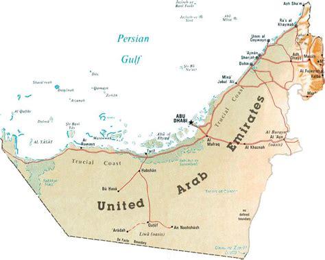 detailed map  uae united arab emirates detailed map